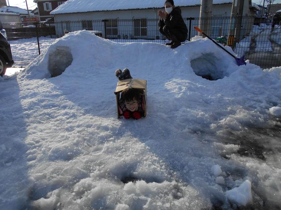 雪遊びを満喫しました☃